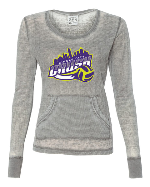 Circle City Crush Volleyball Women's Zen Thermal Long Sleeve T-Shirt SP