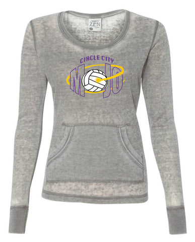 Circle City Mojo Volleyball Women's Zen Thermal Long Sleeve T-Shirt SP