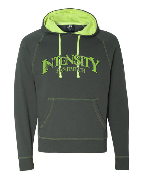 Indy Intensity Neon Green Adult Shadow Fleece Hooded Pullover Sweatshirt - L&M Spirit Gear