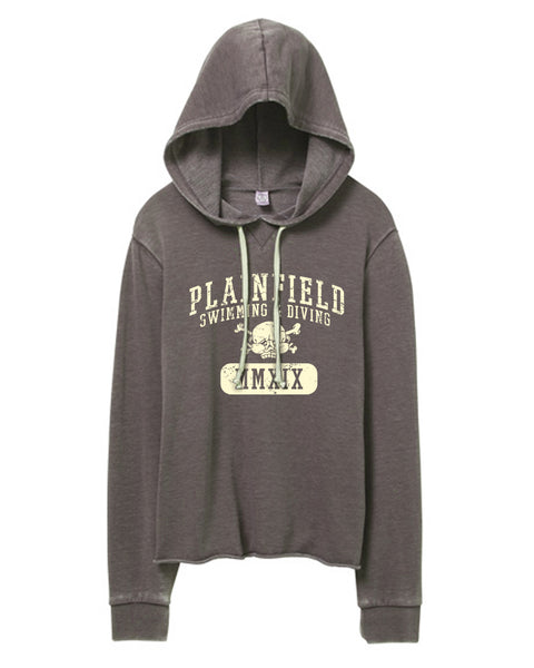 Plainfield Swimming Parent Gear Women's Burnout Terry Hoodie- SP3