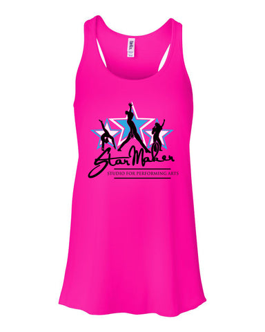 Star Maker Studio Women's Flowy Racerback Tank SP - L&M Spirit Gear