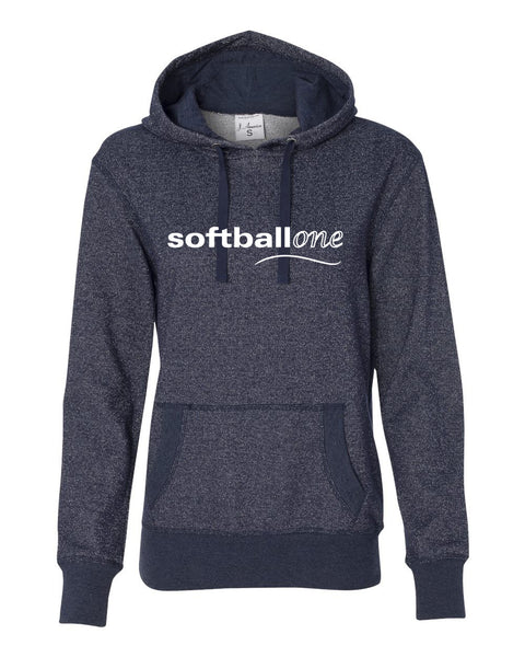 Softball one Women's Glitter French Terry Hooded Pullover SP - L&M Spirit Gear
