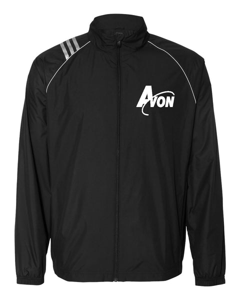 Avon Band Black/White adidas Golf ClimaProof 3-Stripes Full Zip Jacket EMB - L&M Spirit Gear