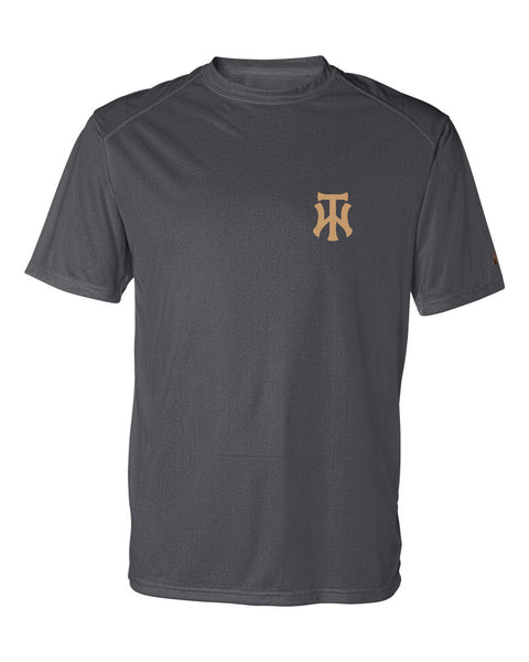 TW Graphite B-Core Short Sleeve T-Shirt Embroidered Logo - L&M Spirit Gear