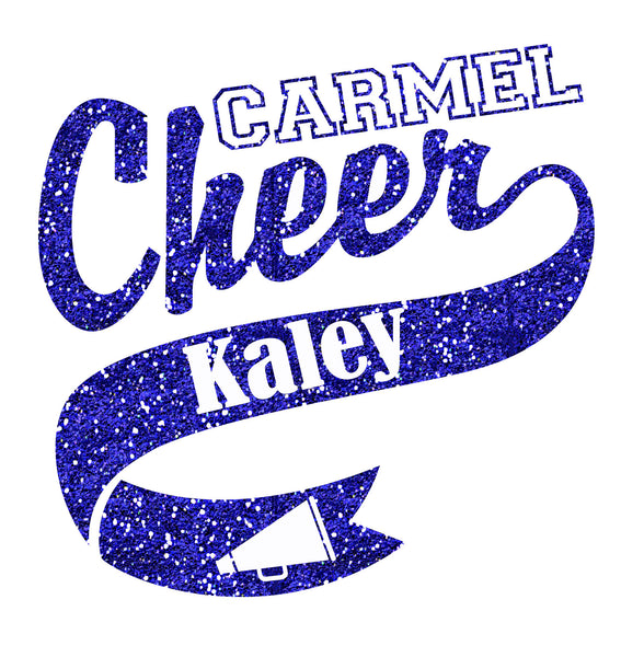 Glitter Carmel Cheer Car Decal - L&M Spirit Gear