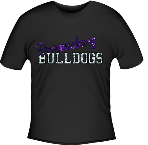 Glitter Block Bulldogs - L&M Spirit Gear  - 1