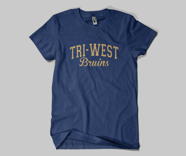 Tri West Bruins Navy DRI FIT Short Sleeve Tee SP2 - L&M Spirit Gear