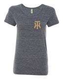 TW Women's Navy Eco-Jersey Ideal T-Shirt Embroidered Logo - L&M Spirit Gear
