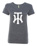 TW Women's Navy Eco-Jersey Ideal T-Shirt Screen Print Logo - L&M Spirit Gear