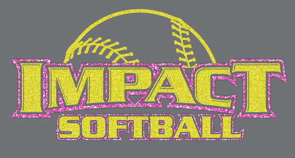 GLITTER Impact Softball on Grey V - L&M Spirit Gear
