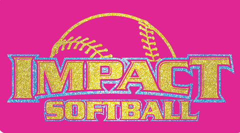 GLITTER Impact Softball on pink V - L&M Spirit Gear