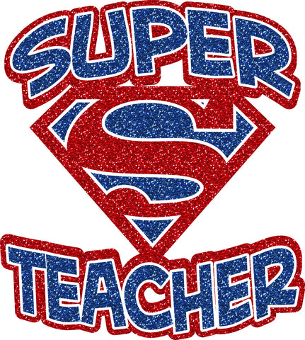 Glitter Super Teacher - L&M Spirit Gear