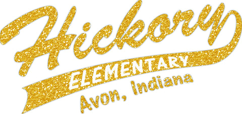 Glitter Hickory Elementary with Tail Raglan Tee - L&M Spirit Gear