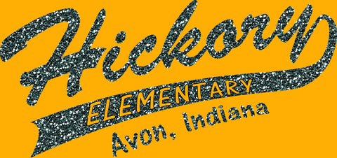 Glitter Hickory Elementary with Tail - L&M Spirit Gear