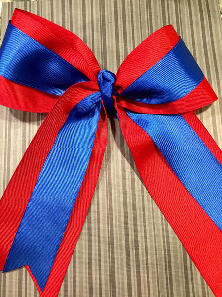 Red and Royal Bow - L&M Spirit Gear