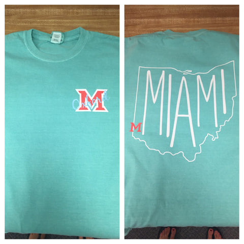 Ohio Outline Miami Comfort Colors - L&M Spirit Gear