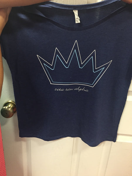 Slouchy Blue Crowns ZTA - L&M Spirit Gear