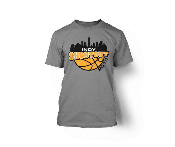 Indy Shootout T-Shirt in Sport Grey - L&M Spirit Gear