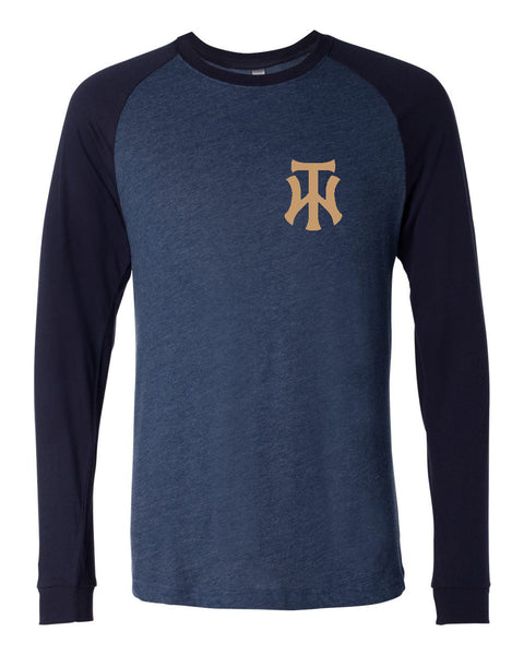 TW Long Sleeve Jersey Baseball Tee Embroidered Logo - L&M Spirit Gear  - 1