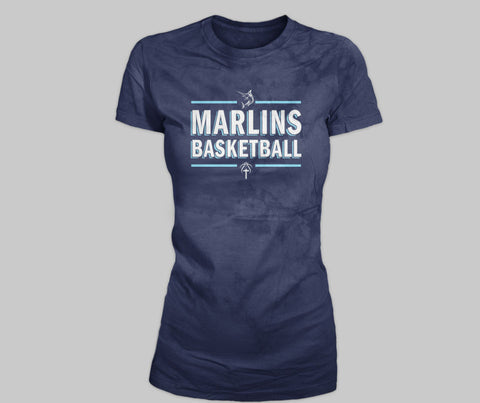 Marlins  SP Women's Crew Basketball Tee - L&M Spirit Gear  - 1