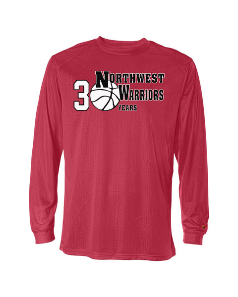 Northwest Warriors Basketball Long Sleeve Dri Fit 30 Years