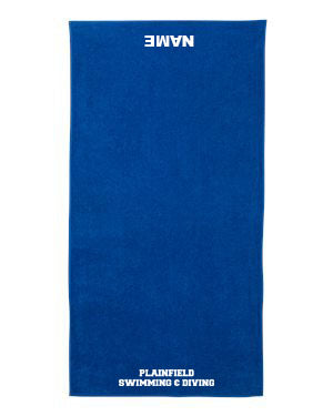 Plainfield Girls Swimming & Diving Towel- EMB