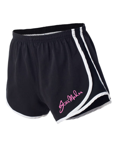 Star Maker Studio Black/White/Black Velocity Running Short - L&M Spirit Gear