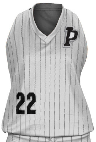 Primetime Pinstriped Racerback Uniforms - L&M Spirit Gear  - 1