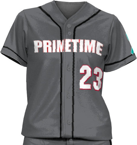 Indiana Primetime Solid Color Full Button Sleeved Uniforms - L&M Spirit Gear  - 1