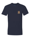TW Navy Performance Short Sleeve T-Shirt Embroidered Logo - L&M Spirit Gear