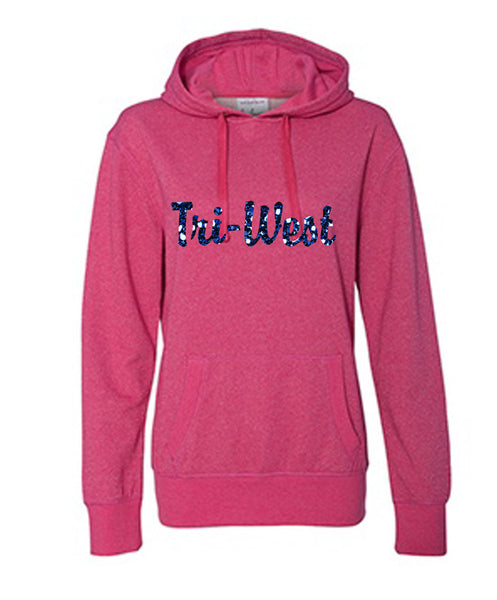 Glitter Tri-West Pink V - L&M Spirit Gear