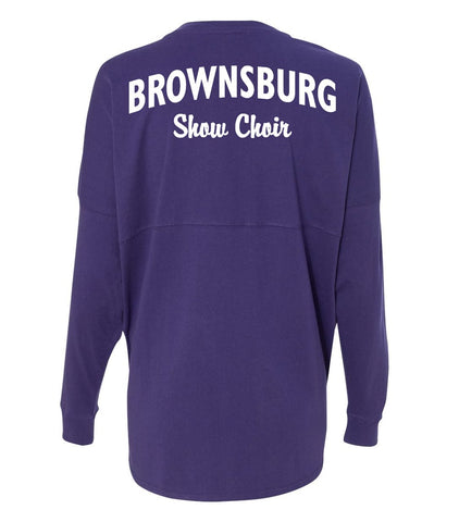 Purple Spirit Jersey with Flat Printing
