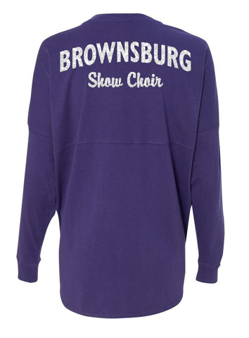 Purple Spirit Jersey with GLITTER Printing