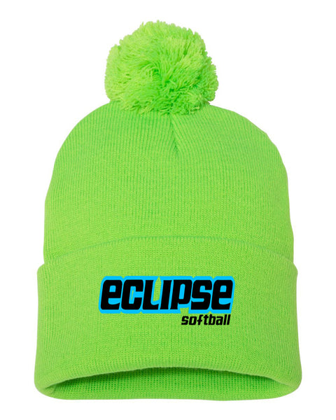 Eclipse Wasson Softball Pom-Pom Knit Cap EMB - L&M Spirit Gear