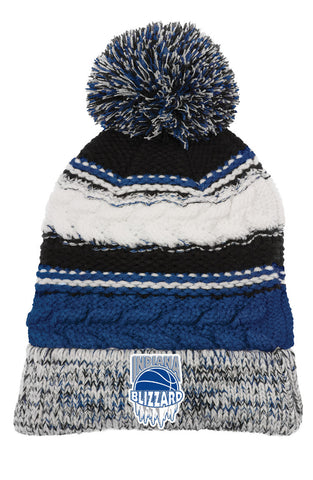 Indiana Blizzard Pom Pom Team Knit Beanie EMB - L&M Spirit Gear