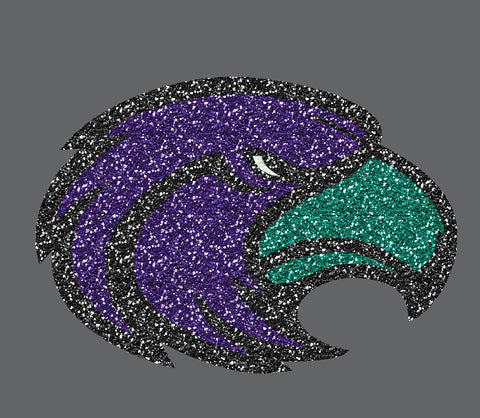 Glitter Skyhawk Head - L&M Spirit Gear