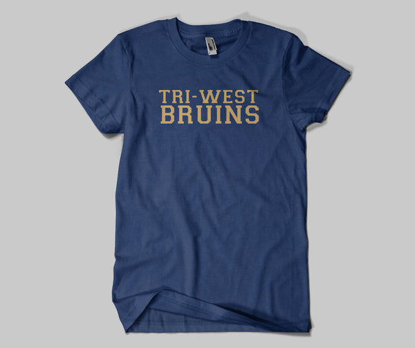 Tri West Bruins GLITTER Navy DRI FIT Short Sleeve Tee SP4 - L&M Spirit Gear