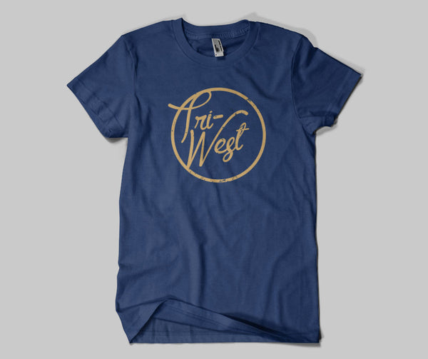 Tri West Bruins Script Font WITHOUT 2016 Standard or Dri Fit Navy Short Sleeve Tee SP6 - L&M Spirit Gear
