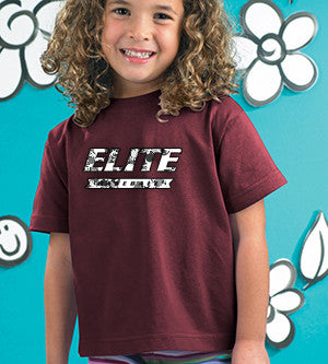 Toddler and Youth Tee with Silver Glitter Elite V - L&M Spirit Gear