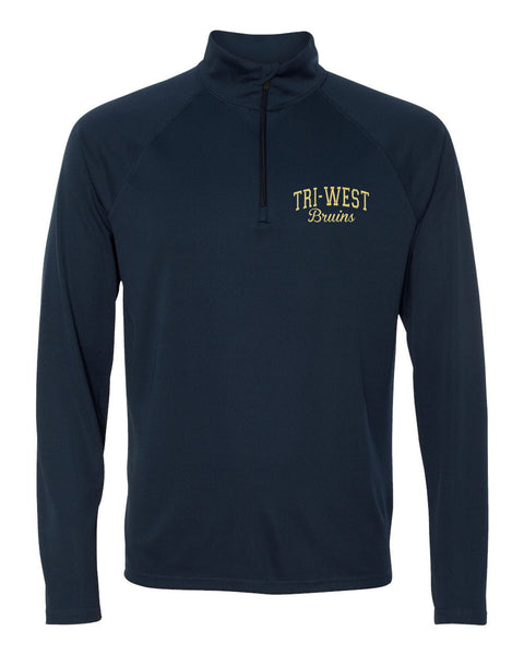 Tri West Bruins Navy 1/4 Zip Lightweight Pullover - L&M Spirit Gear