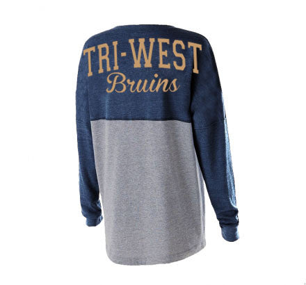 Tri West Bruins Navy/Grey Jersey Pullover - L&M Spirit Gear