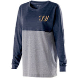 Tri West Bruins in GLITTER Navy/Grey Jersey Pullover - L&M Spirit Gear  - 2