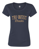 Tri West Bruins Navy or Grey Women's Polyester Short Sleeve Tee Glitter SP2 - L&M Spirit Gear