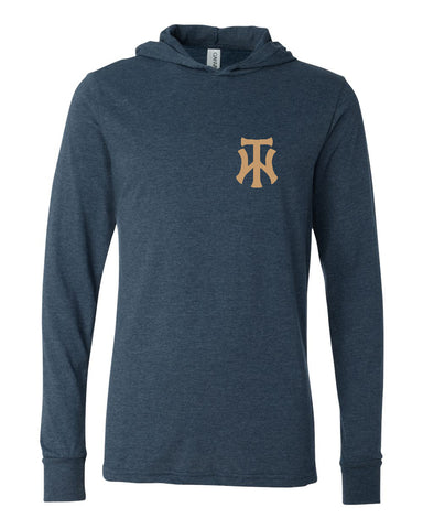 TW Unisex Long Sleeve Jersey Hooded Tee Embroidered Logo - L&M Spirit Gear