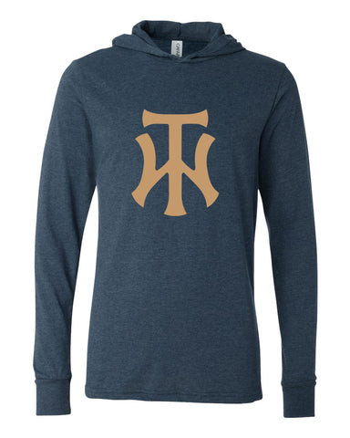 TW Unisex Long Sleeve Jersey Hooded Tee Screen Print Logo - L&M Spirit Gear