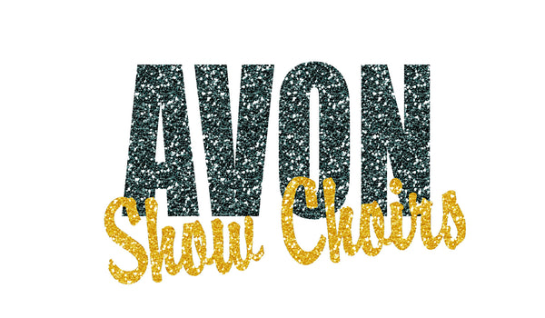 Glitter Avon Show Choirs in Dark Heather Grey - L&M Spirit Gear  - 1