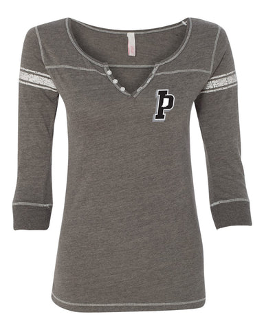Indiana Primetime Women's Hailey Henley Three-Quarter Sleeve Shirt V
