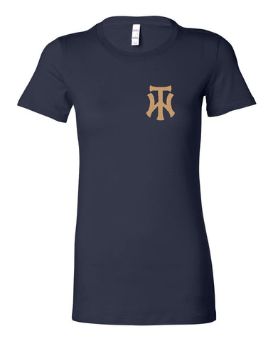 TW Women's Navy Women's The Favorite Tee Embroidery Logo - L&M Spirit Gear