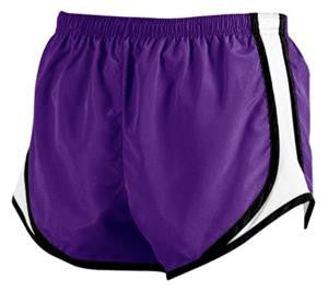 Brownsburg Cheer Purple/White Velocity Shorts - L&M Spirit Gear