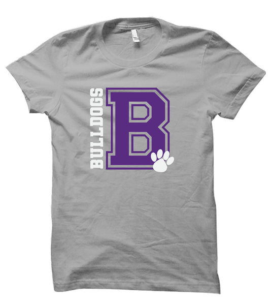 NEW FOR 2020 Brownsburg West Cheer Grey Tee